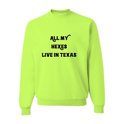 All my hexes live in Texas X Neon green