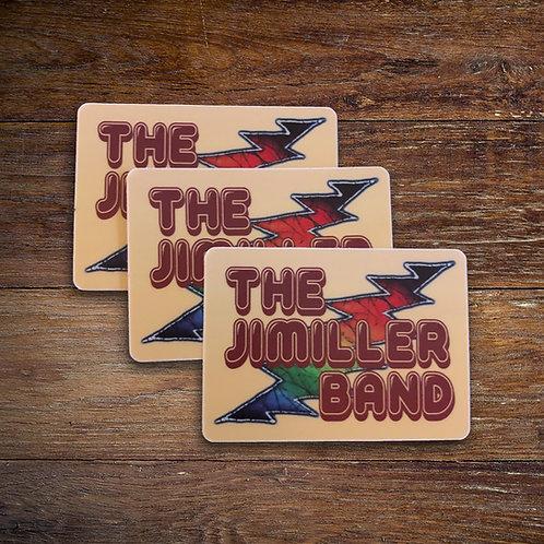 JiMiller Band Bolt Sticker 3 Pack