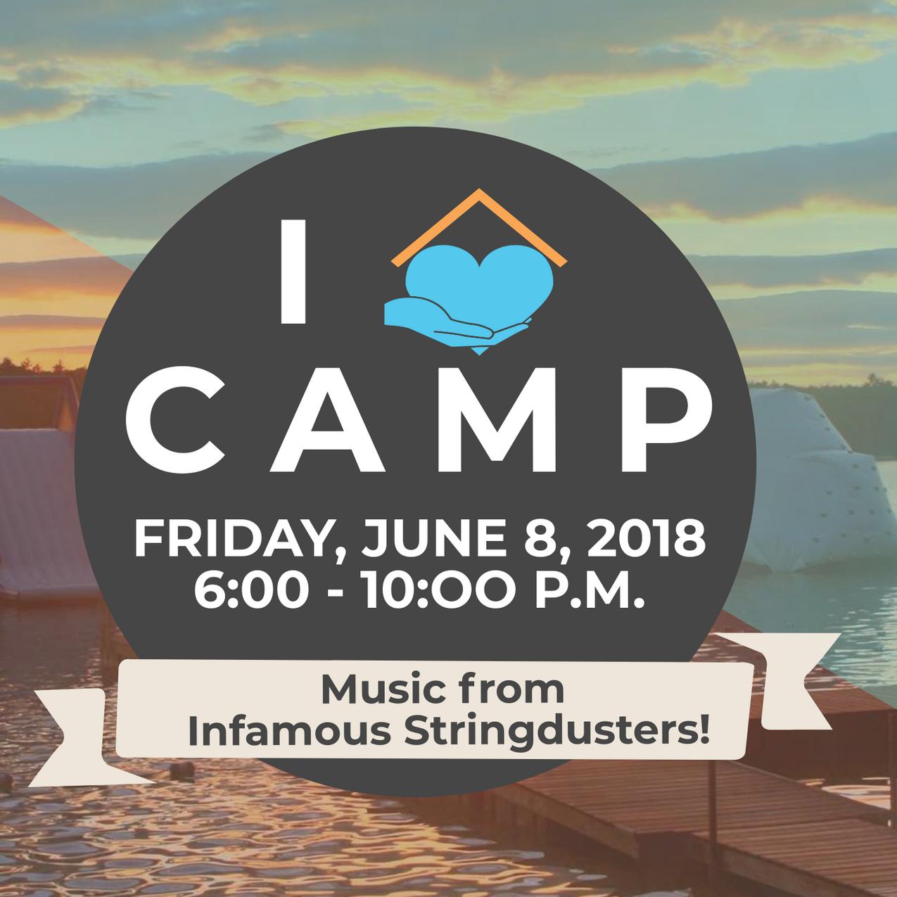 i heart camp music banner