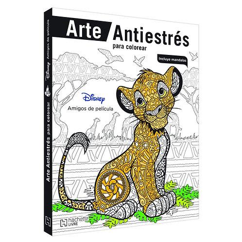 ARTE ANTIESTRÉS PARA COLOREAR. DISNEY AMIGOS DE PELÍCULA