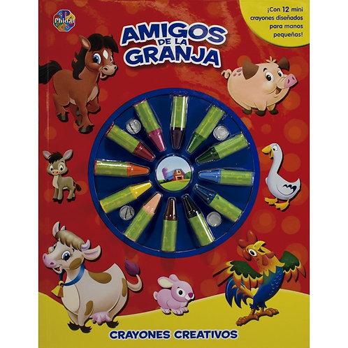 AMIGOS DE LA GRANJA. Crayones creativos