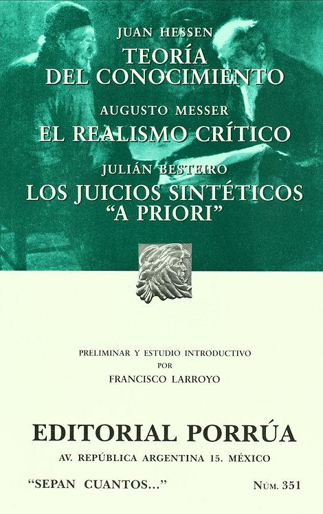 TEORÍA DEL CONOCIMIENTO / EL REALISMO CRÍTICO / OTRO