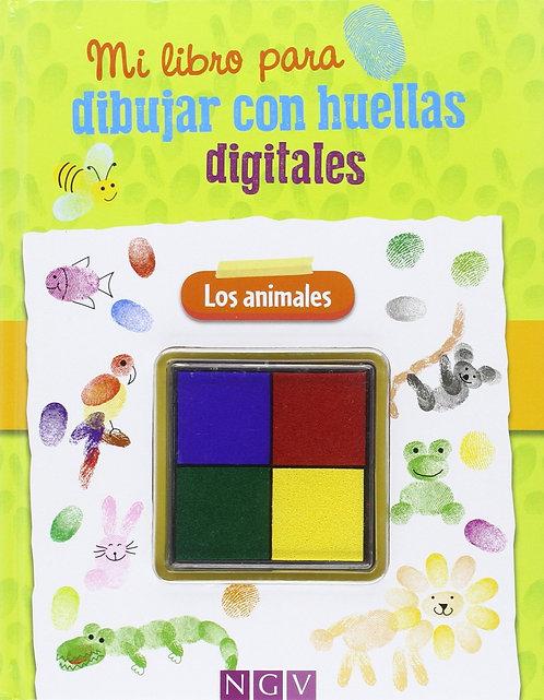 LOS ANIMALES DIBUJA CON HUELLAS DIGITALES