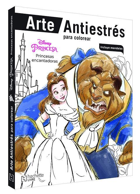 ARTE ANTIESTRÉS PARA COLOREAR. DISNEY PRINCESA