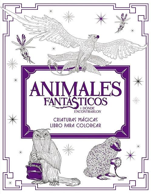 ANIMALES FANTÁSTICOS Y DÓNDE ENCONTRARLOS. Libro para colorear