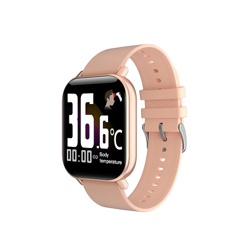 Voltmi Smart Watch Rose Gold AMOLED Full-Touch Screen
