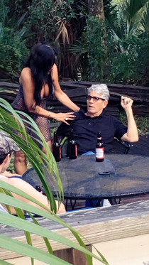 "On the set of ""Henri"" with Eric Roberts."