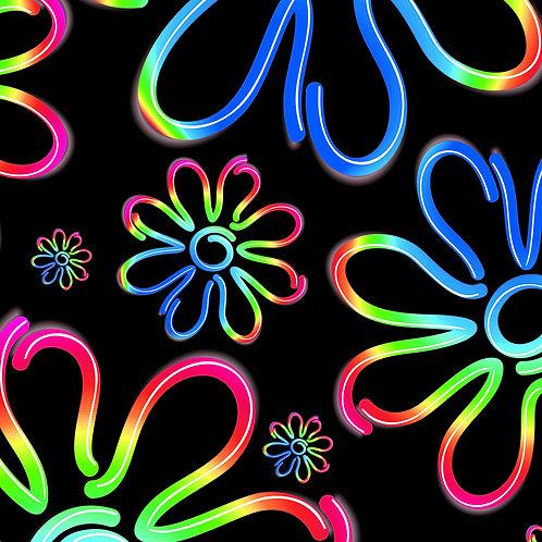 Neon Daisy Blue