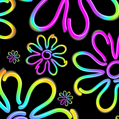 Neon Daisy Purple