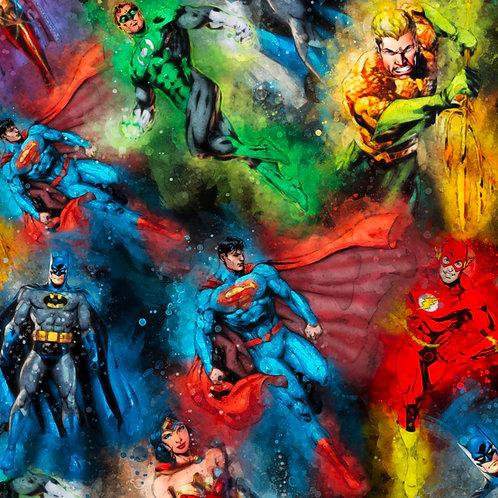 Super Hero Mashup Watercolour