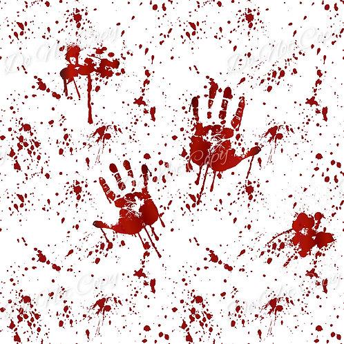Blood Splatter Hands White