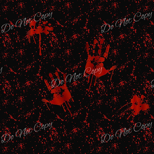Blood Splatter Hands Black