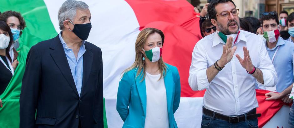 La manifestazione di Salvini e Meloni