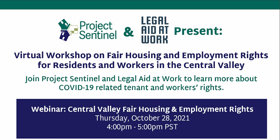 Central Valley Fair Housing and Employment Rights Workshop