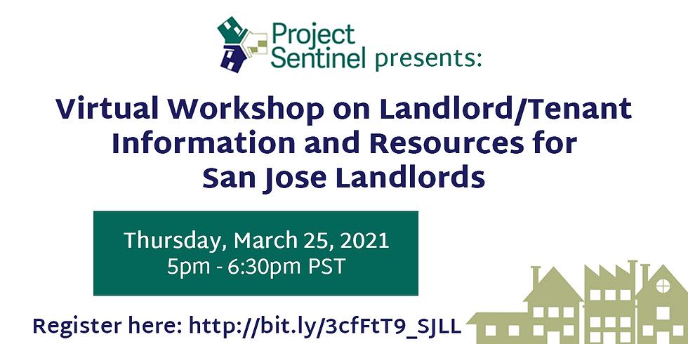 Virtual Workshop on Landlord/Tenant Resources for San Jose Landlords