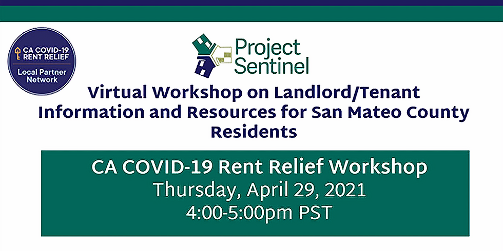 Virtual Workshop on Landlord/Tenant  Information and Resources for San Mateo County Residents