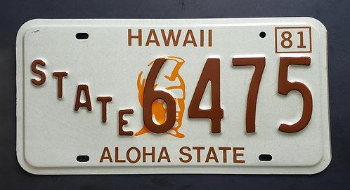 HI Hawaii - State Police - King Kamehameha I - 6475