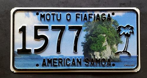 American Samoa Island - Motu O Fiafiaga - Rock - Beach - Palm Tree - 1577