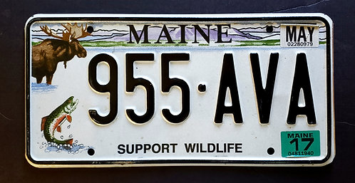 ME Wildlife Moose Trout Fish - Support Wildlife - 955 AVA