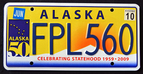Alaska 50 Years of Statehood Anniversary