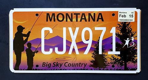 MT Big Sky Country - Angler - Lake - Mountains - CJX971
