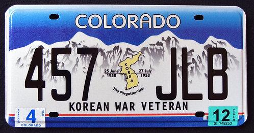 CO Korean War Veteran - The Forgotten War - 457 JBL
