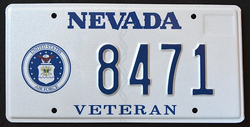 NV Veteran - United States Air Force - 8471
