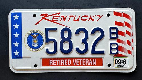 KY Retired Veteran - US Air Force - 5832BB