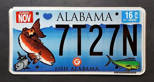AL Fish Alabama - Saltwater - Wildlife - 7T27N
