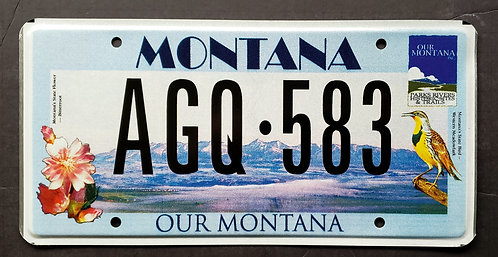 MT Our Montana - State Bird and State Flower - AGQ 583