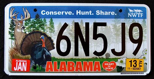 AL Wildlife Deer - Turkey - Conserve - Hunt - Share - 6N5J9
