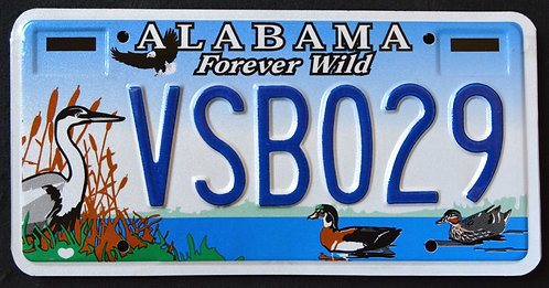 AL Forever Wild - Wildlife Heron - Eagle - Duck - Bird -VSB029