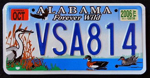 AL Forever Wild - Wildlife Heron - Eagle - Duck - Bird - VSA814