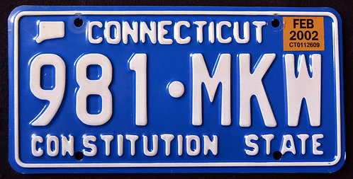 CT Constitution State - Blue