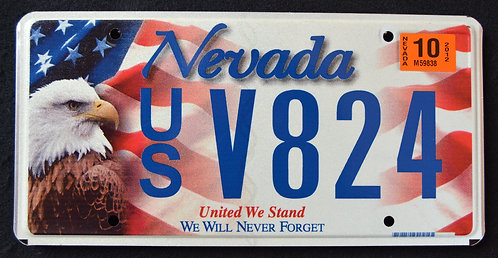 NV United We Stand - We Will Never Forget - Eagle - 9/11
