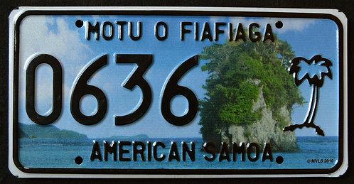 American Samoa - Rock - Palm Tree - 0636