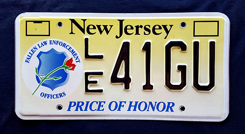 NJ New Jersey - Fallen Police (Law Enforcement) Officers - Price Of Honor