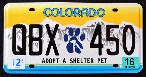 CO Adopt A Shelter Pet - Cat - Dog - QBX 450