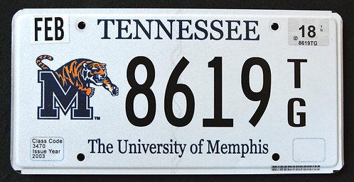 TN University of Memphis Tigers - Basketball Sport Team - 8619TG