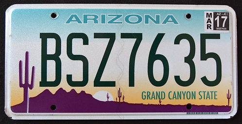 AZ Grand Canyon State - Desert Sunset - Saguaro Cactus - BSZ7635