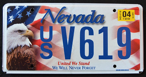 NV United We Stand - We Will Never Forget - 9/11 - Eagle