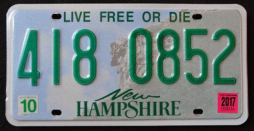 NH Old Man Face Rock - Live Free Or Die - 418 0852