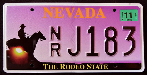 NV Rodeo State - Wildlife Horse - Cowboy - Sunset - NRJ183