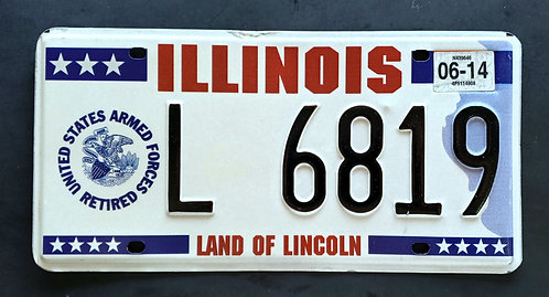 IL United States Armed Forces Retired - Land of Lincoln - L6819