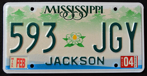 MS Forest - Magnolia Flower - Jackson County - 593 JGY