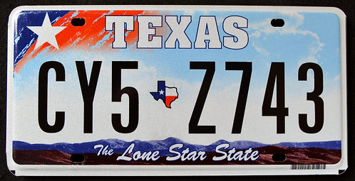 TX The Lone Star State - Map - CY5 Z743