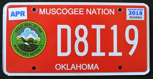 OK Muscogee Nation - Great Seal - D8I19