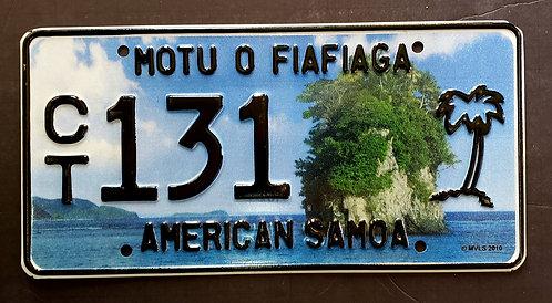 American Samoa + Palm Tree - Rock - CT 131