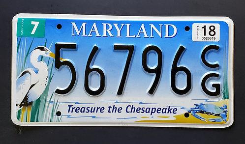 MD Wildlife Heron - Crab - Bird - Treasure the Chesapeake - 56796CG
