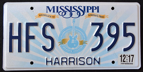MS Birthplace Of America`s Music - BB. King - Lucille Guitar - Harrison County